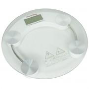 Balança Digital Banheiro Academia Redonda Vidro Temperado Transparente 180 Kg Importway IWBDB-001