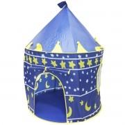 Barraca Infantil Toca Dobrável Castelo Menino Cabana Tenda Divertida Azul Brinqway BW-068AZ