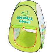Barraca Infantil Toca Dobrável Menino Animal Cabana Tenda Divertida Verde Brinqway BW135VD