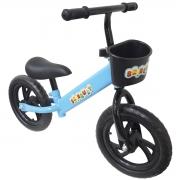 Bicicleta Infantil Sem Pedal Balance Equilibrio Aro 12 Criança Pneu Eva Azul Importway BW152AZ
