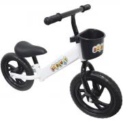 Bicicleta Infantil Sem Pedal Balance Equilibrio Aro 12 Criança Pneu Eva Branca Importway BW152BR