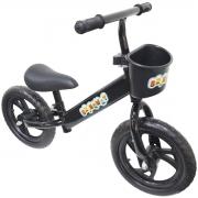 Bicicleta Infantil Sem Pedal Balance Equilibrio Aro 12 Criança Pneu Eva Preta Importway BW152PT