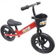 Bicicleta Infantil Sem Pedal Balance Equilibrio Aro 12 Criança Pneu Eva Vermelha Importway BW152VM