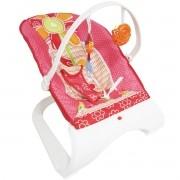 Cadeira Cadeirinha Bebê Descanso Vibratória Musical Brinquedos Menina Rosa Importway BW-095RS