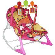 Cadeira Cadeirinha Bebê Descanso Vibratória Musical com Balanço Menina Rosa Importway BW-046 RS