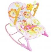Cadeira Cadeirinha Bebê Descanso Vibratória Musical com Balanço Menina Rosa Importway BW-094RS