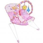 Cadeira Cadeirinha Bebê Descanso Vibratória Musical Menina Macia Rosa Importway BW-093RS