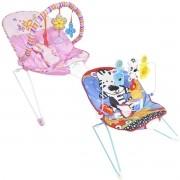 Cadeira Cadeirinha Bebê Descanso Vibratória Musical Menina Menino Macia Importway BW-093