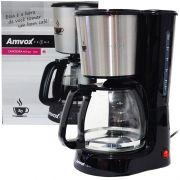 Cafeteira Elétrica 30 Xícaras Café Amvox Nova com Colher Dosadora ACF 557 Inox