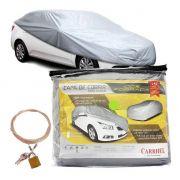 Capa Automotiva Cobrir Carro Protetora Forrada Total e Cadeado Tamanho GG Carrhel