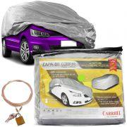 Capa Automotiva Cobrir Carro Protetora Forrada Total e Cadeado Tamanho P M G Carrhel