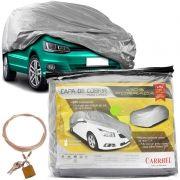 Capa Automotiva Cobrir Carro Protetora Forrada Total e Cadeado Tamanho M Carrhel