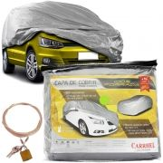 Capa Automotiva Cobrir Carro Protetora Forrada Total e Cadeado Tamanho P Carrhel