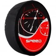 Capa Pneu Roda Estepe Universal com Cadeado Anti Furto Aro 14 à 16 Carrhel 434 Speed Vermelho
