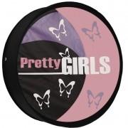 Capa Pneu Roda Estepe Universal com Cadeado Anti Furto Aro 14 à 16 Carrhel 440 Pretty Girls Meninas