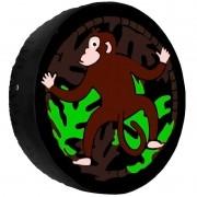Capa Pneu Roda Estepe Universal com Cadeado Anti Furto Aro 14 à 16 Carrhel 449 Macaco Selva