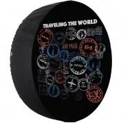 Capa Pneu Roda Estepe Universal com Cadeado Anti Furto Aro 14 à 16 Carrhel 478 Travelling The World