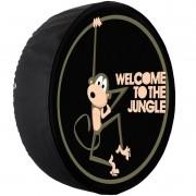 Capa Pneu Roda Estepe Universal com Cadeado Anti Furto Aro 14 à 16 Carrhel 482 Welcome To The Jungle