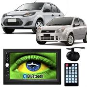 Central Multimídia Mp5 Fiesta Hatch/Sedan 05/12 D720BT Moldura Bluetooth Câm Ré
