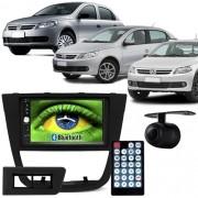 Central Multimídia Mp5 Gol Saveiro Voyage G5 09 à 12 D720BT Moldura 2 Din Usb Bluetooth Câmera Ré