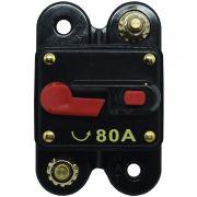 Disjuntor Automotivo 80A Tech One Proteção Som Bateria Resetável Liga Desliga