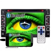 Dvd Automotivo 2 Din 6.2 First Option Multimídia Universal SD Usb Bluetooth Gps Espelhamento