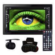 Dvd Automotivo 2 Din 7.0 Napoli DVD-TV7335 Universal SD Usb Bluetooth Tv Digital Gps Câmera de Ré