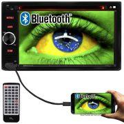Central Multimidia 2 Din 6.2 Multilaser P3321 Evolve Light Dvd Sd Usb Fm Am Bluetooth Espelhamento