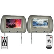 Encosto Cabeça Tela Monitor Usb SD + Encosto de Cabeça Escravo Tech One Standard Cinza