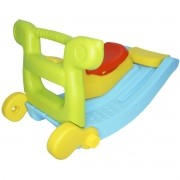 Escorregador 2 Degraus e Gangorra Infantil Brinquedo 2 em 1 Importway BW-051 Colorido