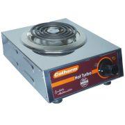 Fogão Elétrico Portátil de Mesa 1 Boca 1250W Hot Turbo Inox 220V Resistência Blindada Cotherm 2446