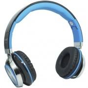 Fone Ouvido Headfone Estéreo Com Fio P2 Microfone Bass Celular Pc Ps4 Infokit HM-750MV Preto/Azul