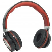 Fone Ouvido Headfone Estéreo Com Fio P2 Microfone Bass Celular Pc Ps4 Infokit HM-750MV Preto/Vermelh
