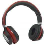 Fone Ouvido Headfone Estéreo Com Fio P2 Microfone Bass Celular Pc Ps4 Infokit HM-750MV Vermelho/Pret