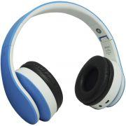 Fone Ouvido Headphone Bluetooth Sem Fio Dobrável Estéreo Fm  Sd Mp3 P2 Exbom HF-400BT Azul Branco