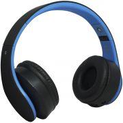 Fone Ouvido Headphone Bluetooth Sem Fio Dobrável Estéreo Fm Sd Mp3 P2 Exbom HF-400BT Preto Azul