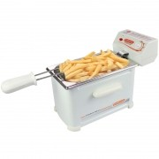Fritadeira Elétrica com Óleo 2 Litros 1 Cuba Cotherm Frita Fácil 1200W Branca
