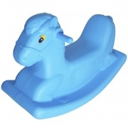 Gangorra Cavalinho Infantil Balanço Brinquedo Playground Criança Menino Azul Importway BW049AZ