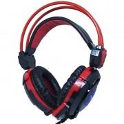 Headset Gamer Fone Ouvido com Microfone Usb P2 Led Pc Jogos Infokit GH-X30 XSoldado Preto Vermelho