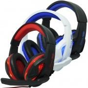 Headset Gamer Fone Ouvido com Microfone Usb P2 Led Pc Ps4 Celular Jogos Knup KP-396