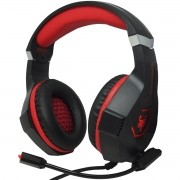 Headset Gamer Fone Ouvido Microfone Bass Led Pc Celular Jogos Infokit GH-X1000 XSoldado Vermelho