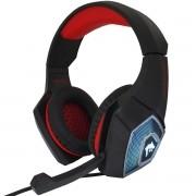 Headset Gamer Fone Ouvido Microfone Bass Led Pc Celular Infokit GH-X2000 XSoldad Vermelho