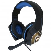 Headset Gamer Fone Ouvido Microfone Bass Led Pc Celular Infokit GH-X2000 XSoldado Azul