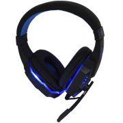 Headset Gamer Ps4 Fone Ouvido com Microfone Usb P2 Led Celular Jogos Exbom HF-G390P4 Preto Azul