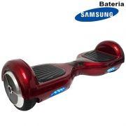 Hoverboard Skate Elétrico 2 Rodas 6,5 Polegadas Bateria Samsung Cor Vinho Original Barato
