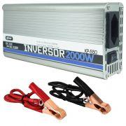 Inversor Conversor 12V para 110V Potência 2000W Veicular Transformador Tensão Knup KP-550 Cinza
