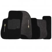 Jogo de Tapete Automotivo Carpete Chevrolet Prisma 2013 à 2019 Soft Logo Bordado 5 Peças