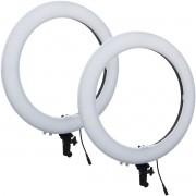Kit 2 Iluminador Led Ring Light Profissional 48 Cm Maquiagem Foto Filmagem Exbom ILUM-R19W72