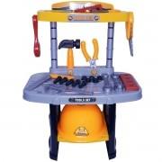Kit Ferramentas Infantil Bancada Oficina com 54 Peças Brinquedo Criança Didático Importway BW033