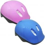 Kit Proteção Infantil Capacete Patins Skate Bicicleta Acessórios Menino Menina Importway Bw-106